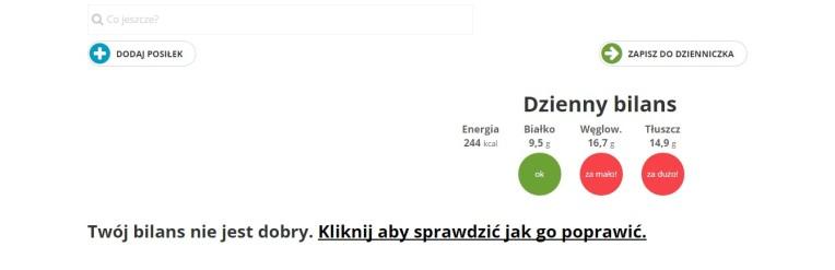 Bilansowanie diety_Dietomat.pl