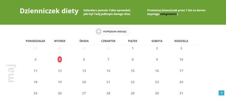 Kalendarz_dzienniczka diety - Dietomat.pl
